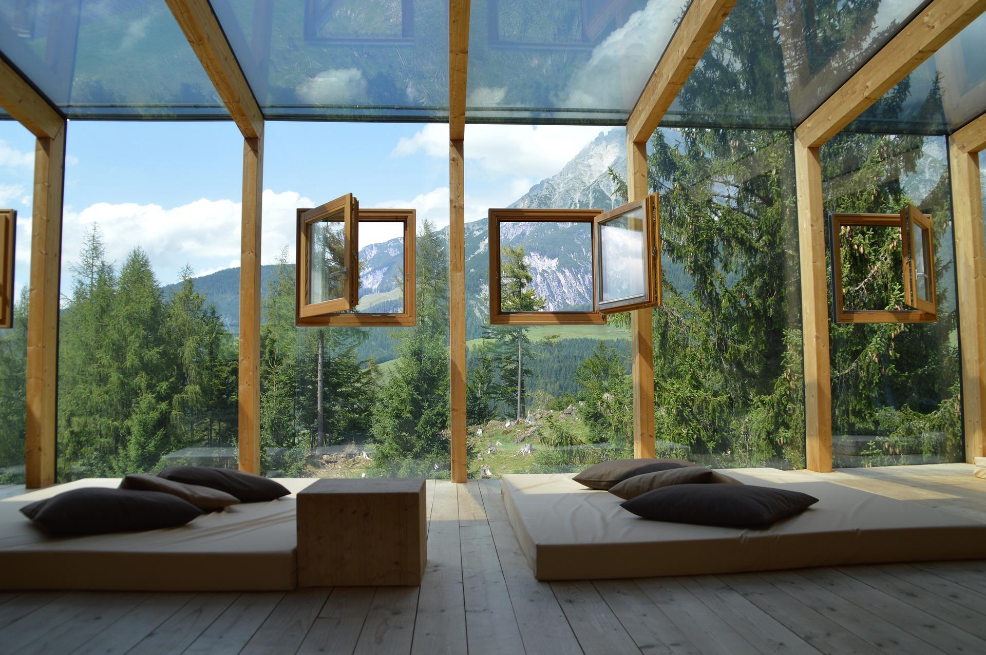 Vue montagne hébergement de luxe