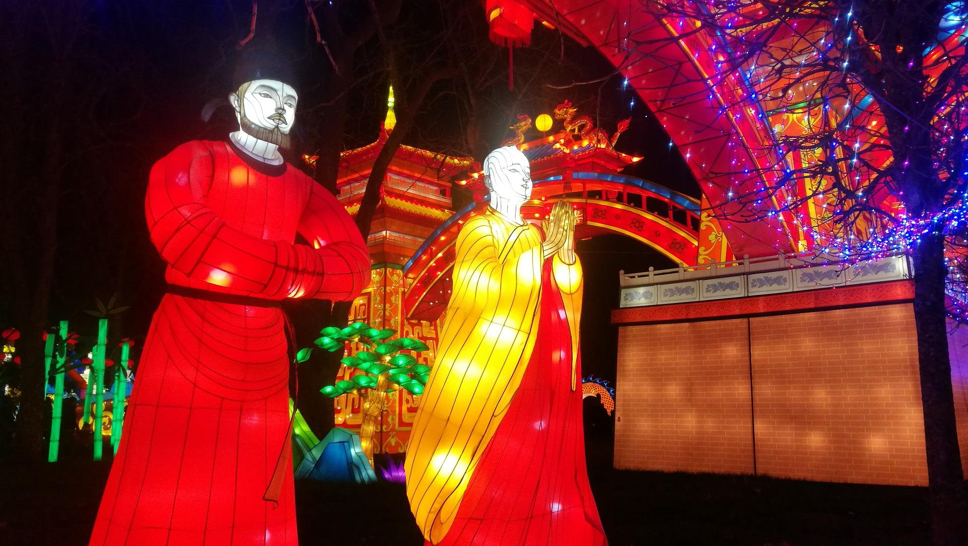 Personnages chinois Festival des Lanternes