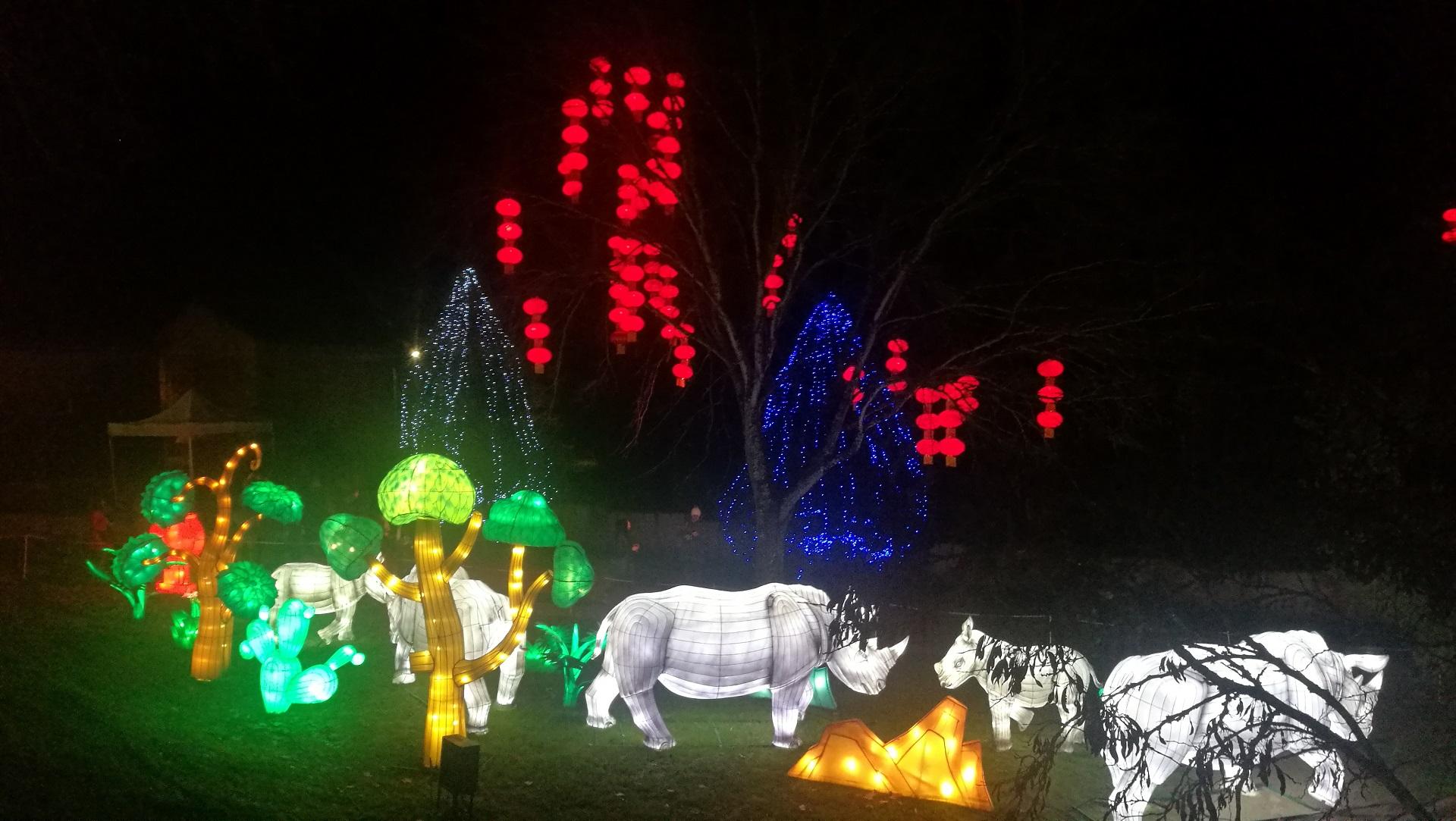 Rhinocéros Festival des lanternes Gaillac